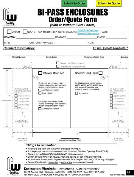 bi-pass enclosure form